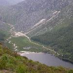 Nearby Glendalough lake from the top