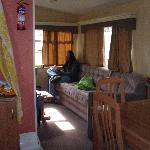 view from kitchen area into lounge