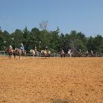 Summer camp kids on the horses, they were great!