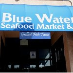 Blue Water Front Door