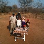 Hot chocolate stop on game drive