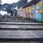 Road towards the hostel (from subway)