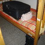 bed (tiny mattress)