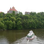 Veveri Castle from boat