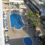 Small pool, large terrace view from 6ht floor balcony