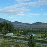 Blick vom Wine Country Inn nach hinten