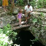 15 ft jump into Cenote