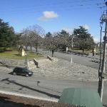 vista al parque desde el hotel