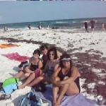 Dirty beach in Destin.