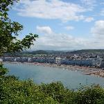 View of Llandudno & promenade from the Observatory, a steep but worthwhile walk on the lower par