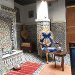 The inside of the Riad.