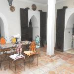 The main section of the Riad and where breakfast is eaten.