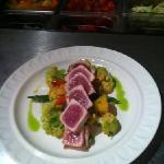seared yellowfin