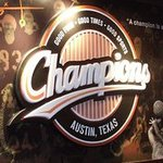 Welcome to Champions, the best place in Austin, Texas to watch the big game.