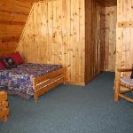 One of our cabin options (2 Fulls) reserve your cabin at campcreekjacksonhole.com