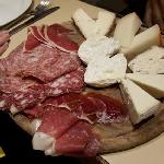 Starter: Selection of ham and cheese