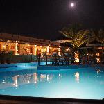Pool and moon