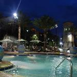 The main pool by night