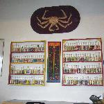 Hot Sauce Display on Wall
