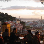 Sunset view of Graça, get local  and join us for a beer