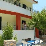 entrance and mountain balcony