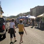 Farmer's Market on Truckee Thursday. Street is closed to traffic.