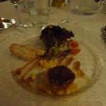 a chunk of foie
