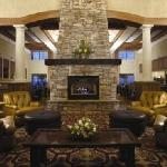 Lobby fireplace at the Lodge