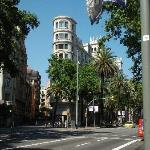Hotel seen from across Diagonal