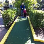 Mini golf was a hit! A hole in 1 on the 1st hole & she's only 5!