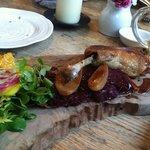 duck leg + beet tart. delicious!