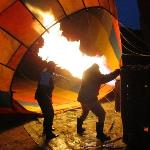 heating up the balloon