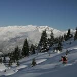 Off piste at Flaine