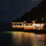 Bayside restaurant at night