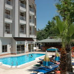 ercan han hotel pool area