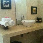 basin area in bathroom