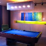 Pool table in the lounge