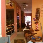 Lobby and bar.