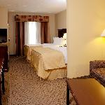Large guest suites with two queen beds and sofa sleeper.