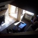 Blick von Treppe in Raum