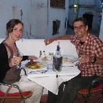 The Alma's happy honeymoon meal!
