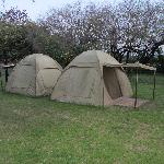 Also comportable tents with beds for backpackers