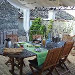 petits déjeuners sur la terrasse sur les toits