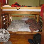 Here is the bunk bed with the awful sheets.