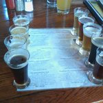 beer sampler at Devil's Backbone!