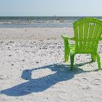 One of the relaxing chairs they offer on the beach