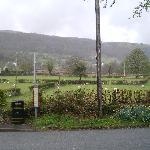 View from the northbound bus stop in Rowen
