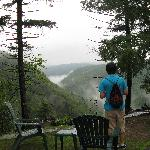 scenic view behind lodge