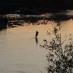 Fly fishing on the river close to Fellcroft