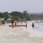 View left on beach
